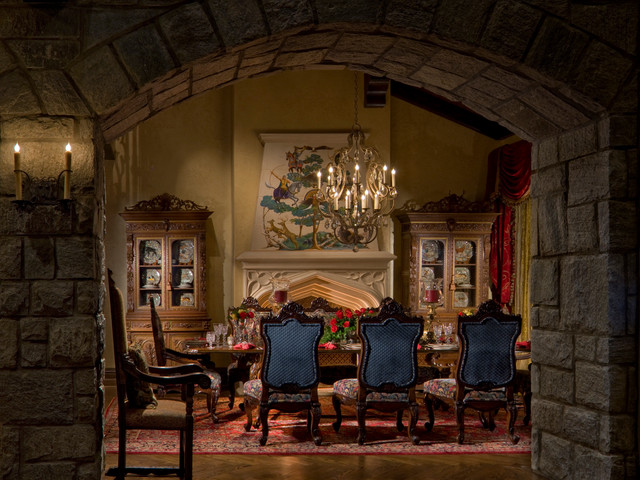 Gothic Castle in the Blue Ridge Mountains  Traditional  Dining Room  by Dianne Davant and
