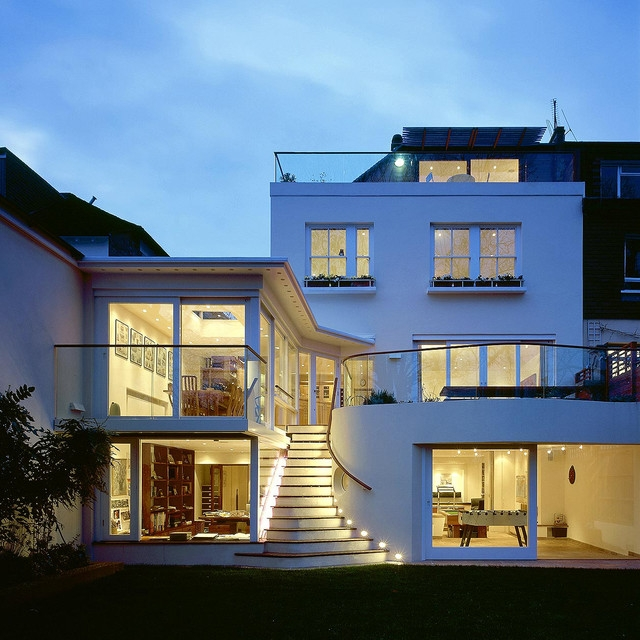 House With Basement Hampstead Contemporary Exterior London   Outside Stairs Design For Indian Houses   Family House   Metal   Creative   Middle House   Amazing