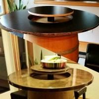 wine barrel tabletop flip