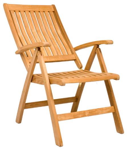 Marley Reclining Folding Chair  Outdoor Teak