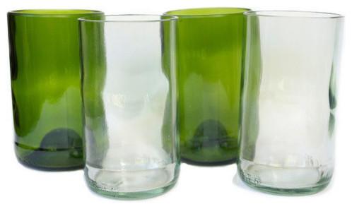 Bukoto Upcycled Single Glass, Green - Craftsman - Everyday ...