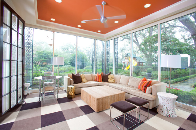River Oaks Residence Transitional Porch Houston By Laura U Inc