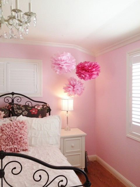 Brown and Pink Dream room  Traditional  Bedroom  San Francisco  by Found Design