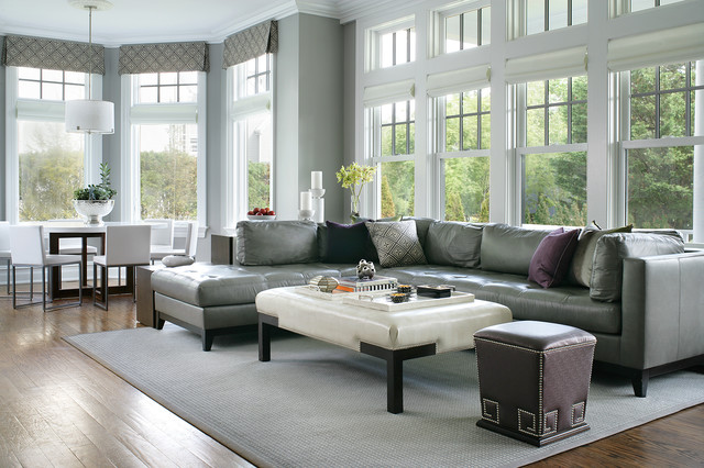 mitchell gold sectional sofa block cad larchmont, ny - transitional family room new york by ...