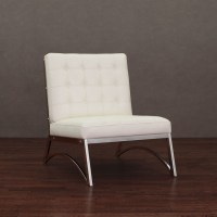 Madrid Modern White Leather Chair - Contemporary ...