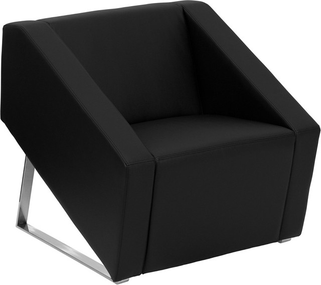 leather chair modern dining pads flash furniture black armchairs and accent chairs by contemporary warehouse