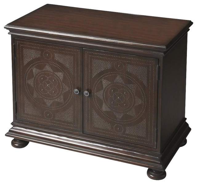 Butler Console Cabinet  Transitional  Storage Cabinets