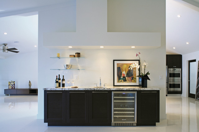 Wet Bar Cabinetry  Modern  Home Bar  New York  by