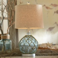 Blue Glass Table Lamp - Beach Style - Table Lamps ...