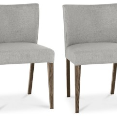 Houzz Dining Chairs Contemporary Round Chair Base Tyler Dark Oak Upholstered Pebble Gray Set Of 2 By