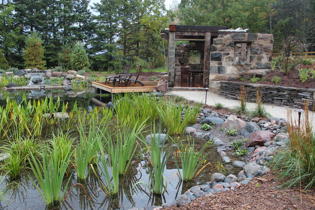 accent chairs under 150 wheel chair plant filter bog in natural swimming pool - rustic toronto by genus loci ecological ...