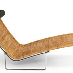 Steel Lounge Chair Quinceanera Swing Pk24 Modern Rattan Chaise And Stainless With Black Pillow Indoor Chairs By Kardiel