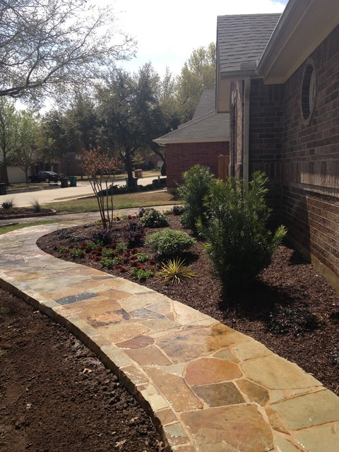 flower mound landscaping and stone