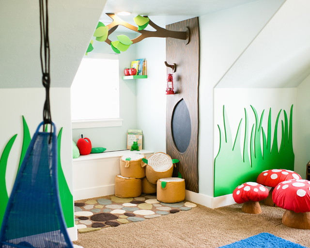 Whimsical Woodland Playroom by Mollie Openshaw contemporary-kids