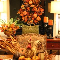 Traditional Armchairs For Living Room Decorating Long Narrow My Home Fall Dining Tablescape - ...