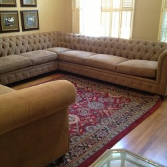Pottery Barn Chesterfield Upholstered Sofa Lazy Boy Briggs Reclining Reviews Sectional Affordable Custom ...