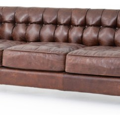 Tufted Brown Leather Sofa Catnapper Power Reclining Christopher Rustic Lodge Straight Back