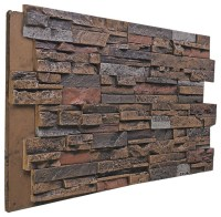 Stacked Stone Wall Panel, Almond