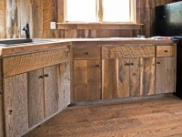 Custom Crafted Barn Wood Cabinets - Rustic - Kitchen ...