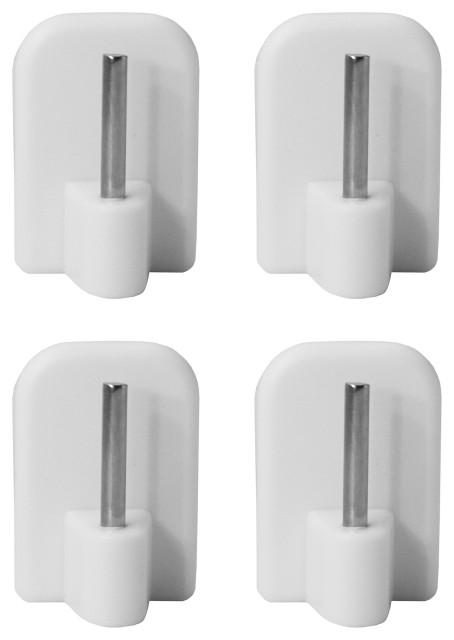 self adhesive hooks sash rod kitchen curtains set of 4 white