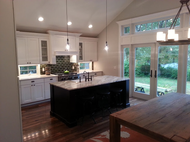 distressed kitchen chairs light fixtures lowes craftsman style - traditional new york ...