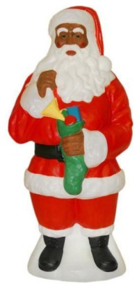 African American Santa Claus Light Up Yard Christmas ...