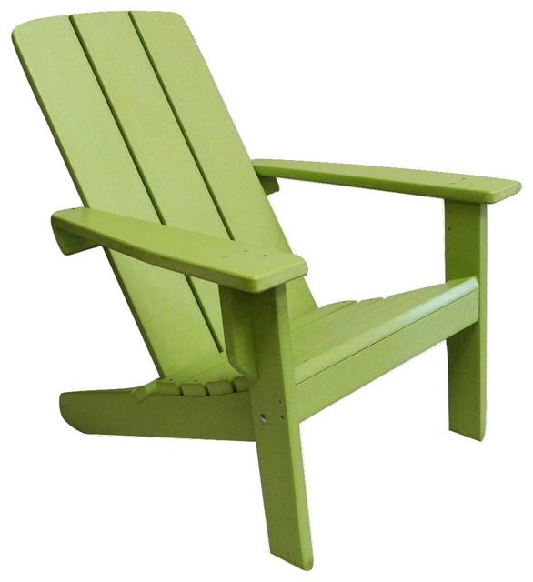Modern Poly Adirondack Chair  Contemporary  Adirondack