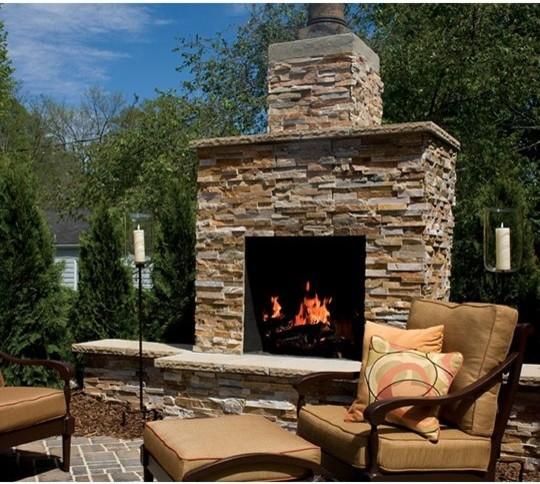 Outdoor Fireplace Kits  30in Preengineered Masonry
