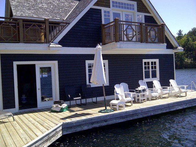 ideas for painting adirondack chairs beach with shade muskoka cottage - traditional exterior toronto by mcgill & renovations