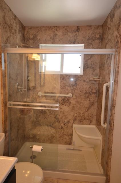 WalkIn Shower Remodel in Arroyo Grande  Traditional  Bathroom  San Luis Obispo  by New Life