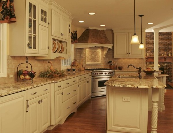 rustic french country kitchen backsplash French Country Kitchen - Traditional - Kitchen - Chicago
