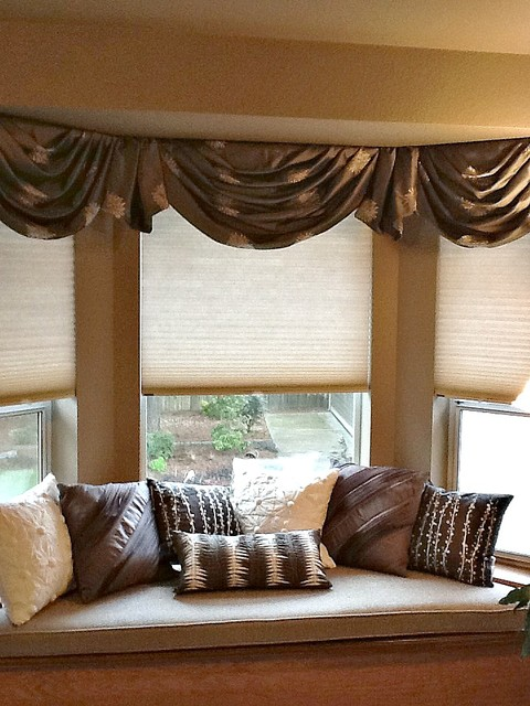 bay window valances - traditional - bedroom - seattle - by