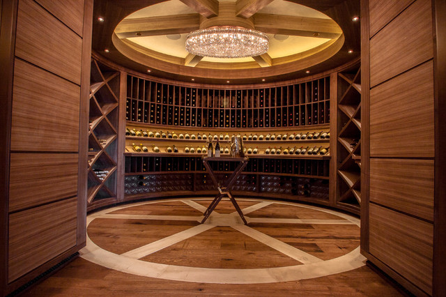 circular chairs for sale high back leather dining uk walnut wine room - traditional cellar denver by dubworks, llc