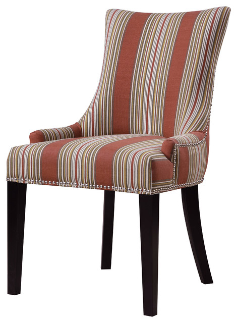 striped dining chair small bedroom chairs with arms pulaski bourbon imperial transitional