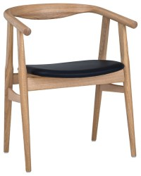 "Hans Wegner The ""U"" Chair, Oak/Black Leather - Midcentury ..."