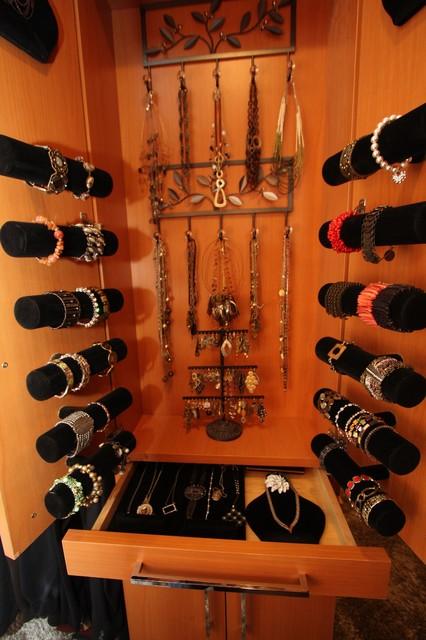 Custom Jewelry Storage  Traditional  Closet  Cleveland