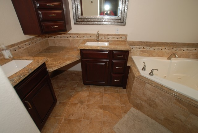 Corner Tub Amp Shower Seat Master Bathroom Reconfiguration