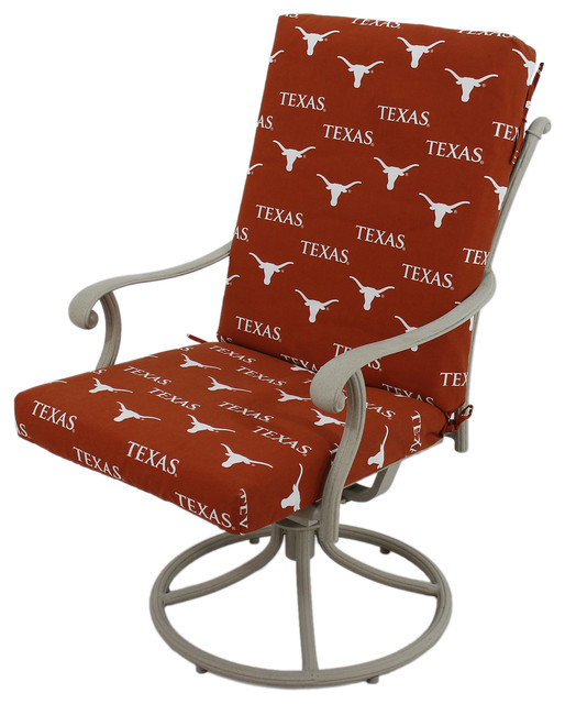 2 piece rocking chair cushions black velvet accent texas longhorns cushion contemporary seat by college covers