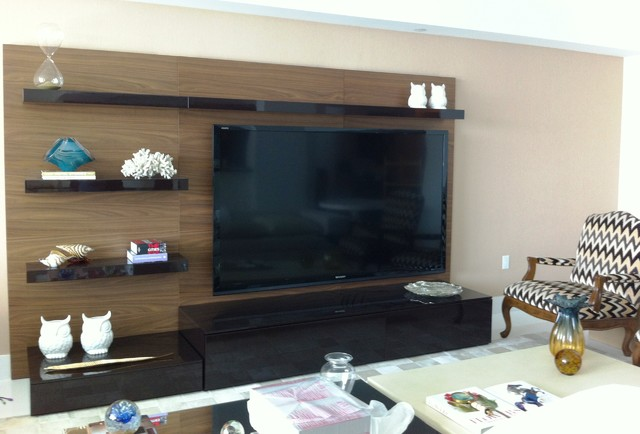 Wall Units And Home Theater Installation Contemporary