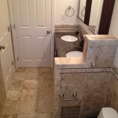 Living Room Recessed Lighting Light Gray Pony Wall - Contemporary Bathroom San Diego By B3 ...