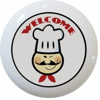 Welcome Chef Ceramic Cabinet Drawer Knob - Cabinet And ...