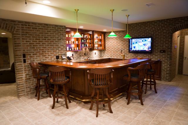 Finished Brick Basement Bar RoomGame Room  Home Bar  Other  by GlenGery Brick