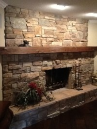 Stone Fireplace Redo - Traditional - Living Room - Dallas ...
