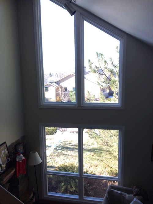 Trapezoid window coveringswant the view but not glaring sun