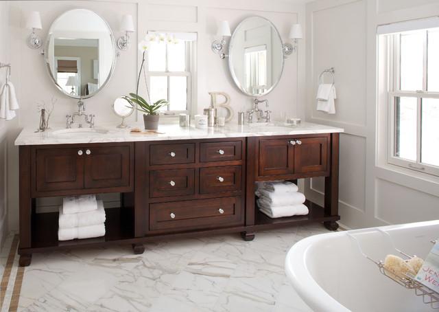 traditional bathroom- bath vanity