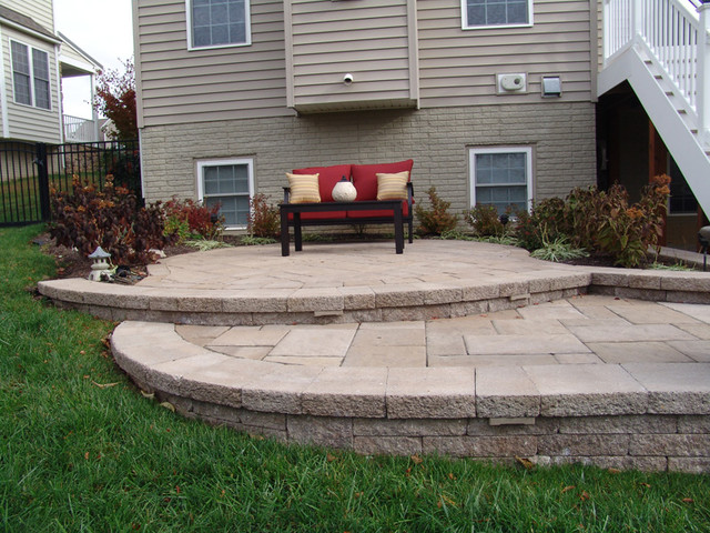 Steps and Split Level Patio  Patio  Baltimore  by