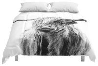 Society6 Portrait of A Highland Cow Comforter ...
