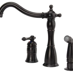 3 Hole Kitchen Faucet Cost Of Countertops Bellver Traditional Oil Rubbed Bronze