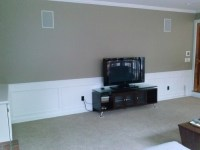Big empty wall behind flat screen TV. Need ideas!