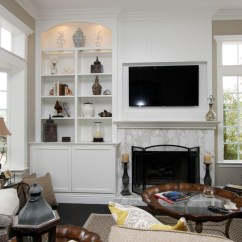 Kitchen Cabinets Orange County Cart White Fireplace Walls - Transitional Living Room ...